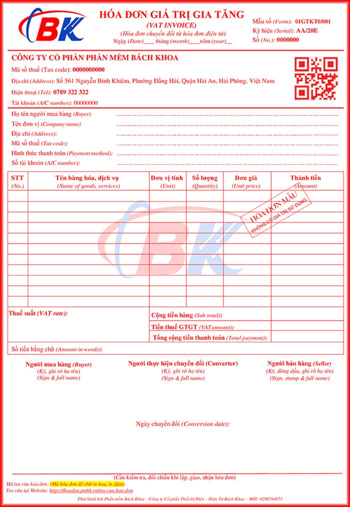Chuyển đổi hóa đơn giấy từ hóa đơn điện tử