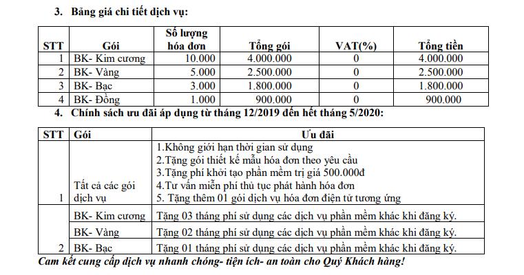 Giá phần mềm hóa đơn điện tử Bách Khoa