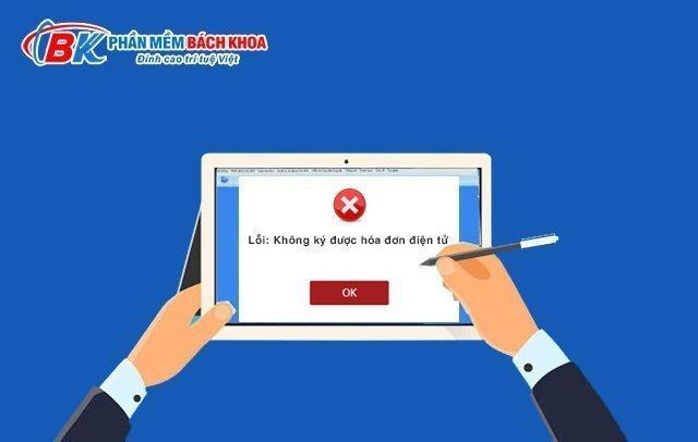Lỗi không ký được hóa đơn điện tử